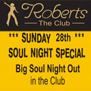 2 djs in Colchester for the soul night at Roberts Club